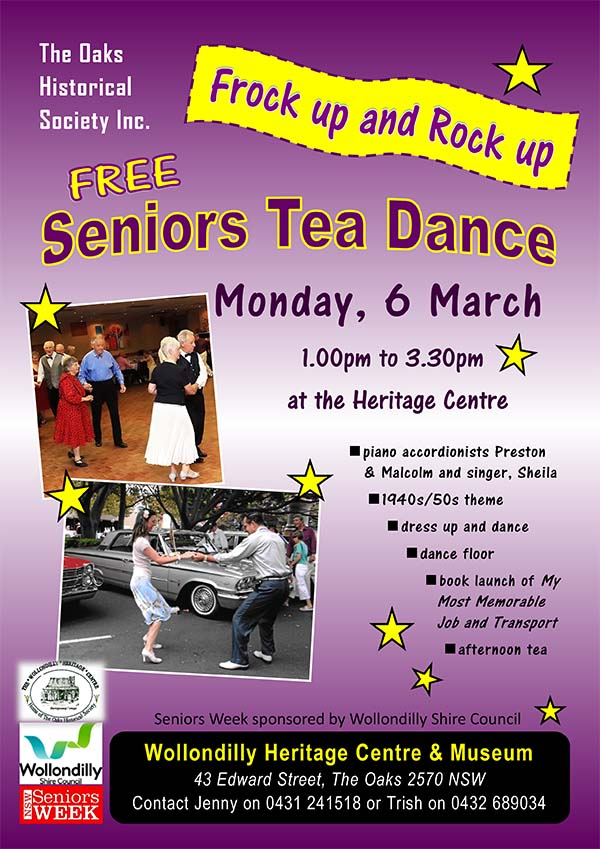 Seniors Week 2017 @ Wollondilly Heritage Centre & Museum | The Oaks | New South Wales | Australia