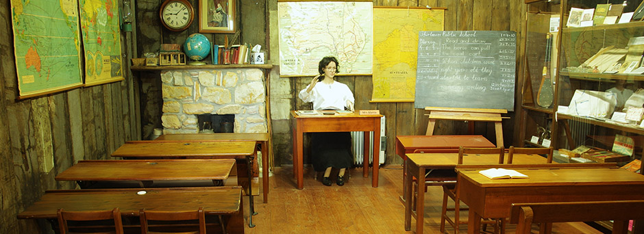 Mrs Martin in her Bush School Classroom