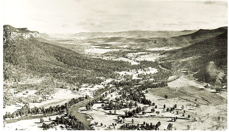 Burragorang Valley before flooding